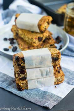 Nut free granola bars (allergy friendly) - chewy, moist and made using gluten free oats and sweetened with applesauce.