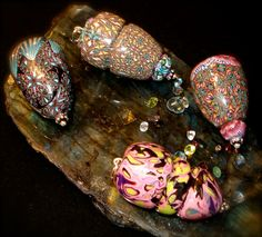 NEW Handmade Polymer Bead Pendants by BeadedPins on Etsy, $24.95 each
