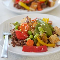 Red Quinoa Stir Fry