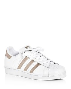 Adidas Women s Superstar Lace Up Sneakers Shoes - Sneakers - Bloomingdale s de79801a9f6c