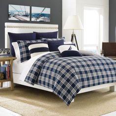 Nautica® Eddington Comforter Set - BedBathandBeyond.com  a great winter look for a beach house.