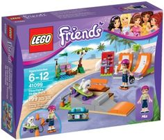 Compare prices on LEGO Friends Set Heartlake Skate Park from top online retailers. Save money on your favorite LEGO figures, accessories, and sets. Model Building Kits, Building Toys, Toys For Girls, Kids Toys, Lego Friends Sets, Interlocking Bricks, Buy Lego, New Sticker, Skate Park