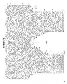 images attach d 1 130 494 Crochet Chart, Crochet Stitches, Free Crochet, Knit Crochet, Crochet Patterns, Crotchet Dress, Crochet Blouse, Wrap Clothing, Crochet Woman