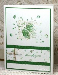 Green by bon2stamp - Cards and Paper Crafts at Splitcoaststampers