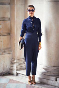 Konca Aykan London Fashion Week Street Style - Spring 2013 Street Style - Elle