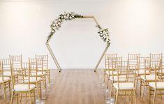 Dusty blue wedding theme | ElegantWedding.ca Wedding Ceremony Arch, Wedding Altars, Winter Wedding Arch, Popular Wedding Colors, Dusty Blue Weddings, Floral Arch, Timeless Wedding, Wedding Color Schemes, Color Themes