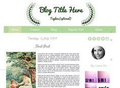 ON Sale 80 Off  Dark Green  Blogger Template by Symufathemes, $5.00