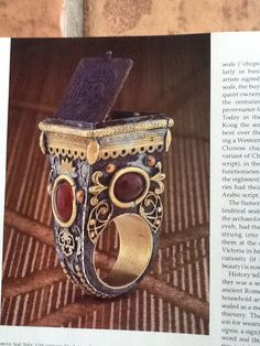 Ring from an article in an older Architectural Digest. Architectural Digest, Cuff Bracelets, Art Deco, Ring, Jewelry, Rings, Jewlery, Jewerly, Schmuck
