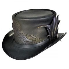 available at  VillageHatShop The Dragon on this is Gorgeous Leather Top Hat 120cc106e