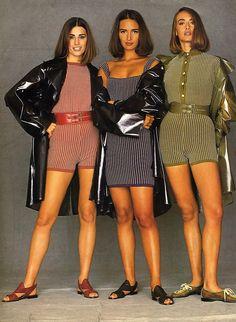 1990 - Models in Azzedine Alaia - Yasmin Lebon on the left