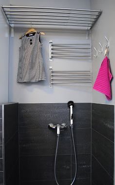 For when I have an actual laundry room.instead of a sink. Utility Room Inspiration, Laundry Storage, Bathroom Toilets, Laundry Room Design, Sauna, Tiny House Plans, Dream Rooms, Beautiful Bathrooms, Home Deco