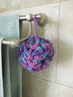Crochet bath puff - free pattern, won't fall apart like the net ones?