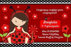 Convite digital personalizado Joaninha 006