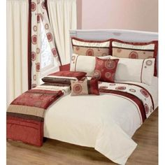 Lovely Marley Pure Opulence Bedspread By Christy Single This Oriental Style  Bedroom Set Features Strips Of Brick, Brown And Beige With A Embroidered  Disco Design.
