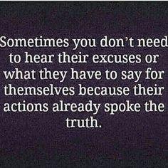 Actions speak truth