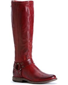 FRYE Women's Phillip Harness Tall Boot, Burnt Red Soft Vintage Leather, 8.5 M US *** You can get additional details at the image link.