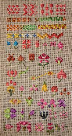 14.satin stitch sampler, via Flickr.