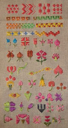 14.satin stitch sampler by jizee66even this will pass away, via Flickr
