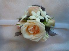 stephanotis and porcelina spray roses Designed By: hillside-consultants.com Wedding Corsages, Spray Roses, Wedding Ideas, Design, Wedding Ceremony Ideas, Bridal Shower Corsages