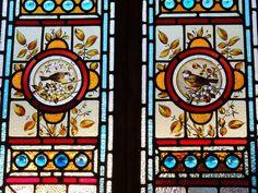 RARE ANTIQUE VICTORIAN STAINED GLASS PANELS CIRCA INTERIOR DECORATION 1890