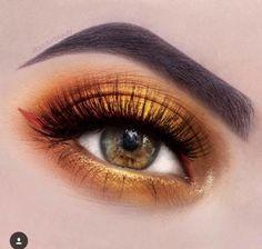 make-up, eyes, orange