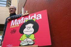 Festejos en París por los 50 años de Mafalda