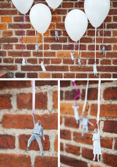 Flying people on balloons....super cute!