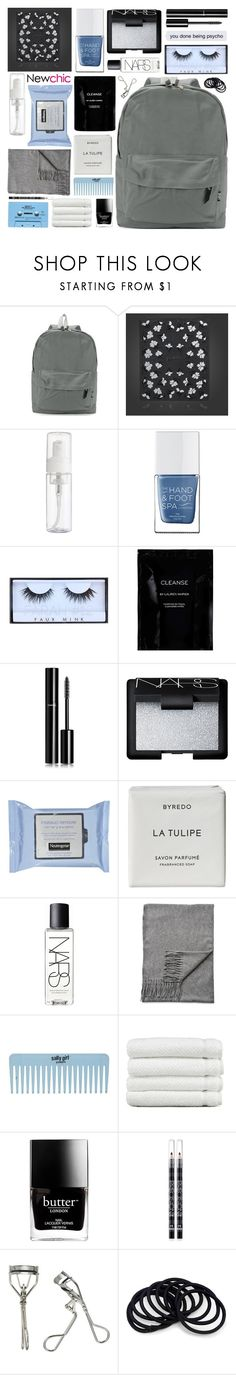 """""""hurt people hurt people"""" by untake-n ❤ liked on Polyvore featuring beauty, The Hand & Foot Spa, Huda Beauty, Cleanse by Lauren Napier, Chanel, NARS Cosmetics, Byredo, Acne Studios, Linum Home Textiles and Butter London"""