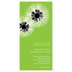 FLOWER BURST -- MODERN WEDDING INVITATION
