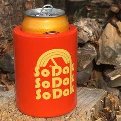 Koozie South Dakota   Vintage Beer Can Cooler So by ohgeezdesign