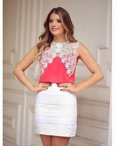 """{Renda}  Look @uniquechicoficial Muito amor nessa blusa  Ja até garanti a minha! • #lançamentouniquechic #verao16 #blogtrendalert"""
