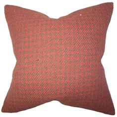 The Pillow Collection Keats Plaid Sea Down Filled Throw Pillow