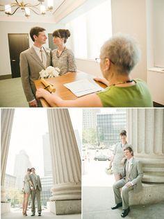 Real Elopement: Danielle + Gregor. Elopement IdeasCourthouse WeddingCivil  ...