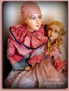 jxb pierrot with Italian boudoir doll