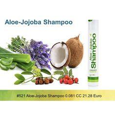 Aloe-Jojoba Shampoo Kiegyensúlyozott pH-jú szulfát mentes sampon 100% stabilizált Aloe vera gélt tartalmaz, kombinálva a  jojoba olaj kondicionáló hatásával. Ajánlott minden hajtípusra, mivel az Aloe-Jojoba sampon elősegíti a haj megerősítését, hozzájárul a haj nedvességének és volumenének helyreállításához.  A használat eredménye: jól kezelhető, egészséges, rugalmas, csillogó haj Exkluzív hajtérfogat-növelő sampon, amely dús megjelenést és fényt biztosít a vékony, fakó hajnak. #gabokakucko