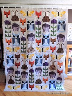 This is Reneta's version of Elizabeth Hartman's Fancy Forest  quilt.  This quilt is a bit of a labour of love.  It has A LOT of pieces!...