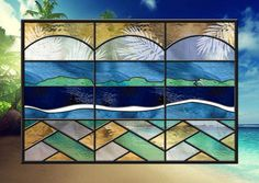 Panel Size: 24 wide X 15 tall Hooks are attached for hanging SUN SEA SURF AND SKY! Robert has designed a Bahama getaway for you own home!