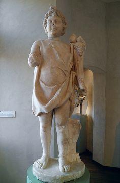 Dieu Harpocrate tenant une corne d'abondance, II° ou III° siècle, MSR, Musée Saint-Raymond, Villa romaine de Chiragan, Musée des Antiques de Toulouse | da Following Hadrian