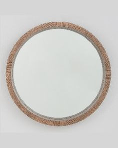 Mirror Mirror | Hazelwood Round wall mirror | Raised timber frame with set back mirror | 92cm $395