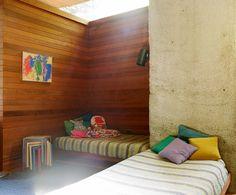 amazing light + wood walls...