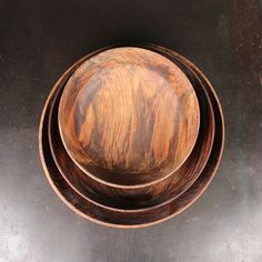 Handmade sheesham wood bowls.