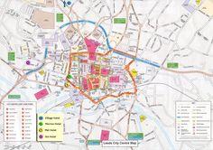 Leeds Tourist Map - Leeds England • mappery