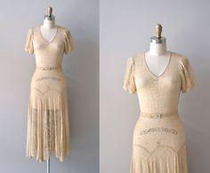 r e s e r v e d...1930s dress / lace 30s dress / Lux Aurumque