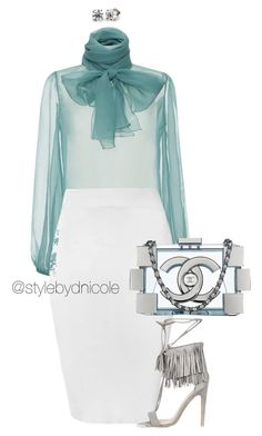 """Untitled #3285"" by stylebydnicole ❤ liked on Polyvore featuring Blumarine, Glamorous and Chanel"