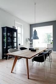 Stylish dining area with mis-matched chairs