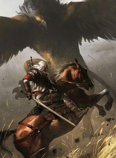 fantasy_dark — Geralt of Rivia by AmirBriki The Witcher Books, The Witcher Game, The Witcher Geralt, Witcher Art, Witcher 3 Wild Hunt, Ciri, Fantasy Kunst, Fantasy Art, Witcher Wallpaper