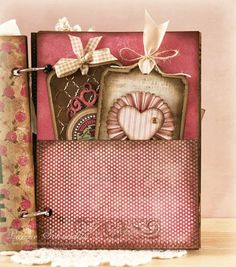 """How fun to make a """"scrap book"""" in the same color theme as the handmade cards you store inside it."""