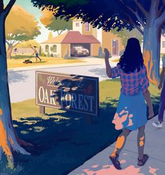 Oak ForestHoustonia Magazine I did an illustration for this article in Houstonia Magazine—A community is Houston is known for its friendly, pay-it-forward attitude. Houstonia is a really cool magazine and it was fun to work with them on such a warm piece!