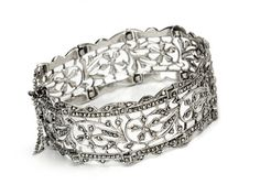 I absolutely LOVE Marcasite anything!!   ~ This bracelet is outstanding~ Art Deco Sparkle: Sterling Marcasite Bracelet