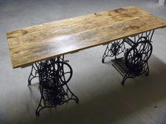 table avec 2 pitements de machine coudre - Table Machine A Coudre
